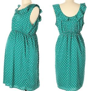 Motherhood Maternity Polka Dot Dress Size Small